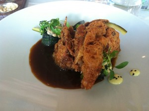 The special that evening, soft shell crab tempura in a spicy soy XO sauce that almost made me lose my mind