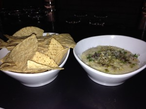 parmesan and white bean fundido with warm chips for dipping