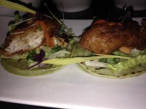 crispy and salty rockfish tacos